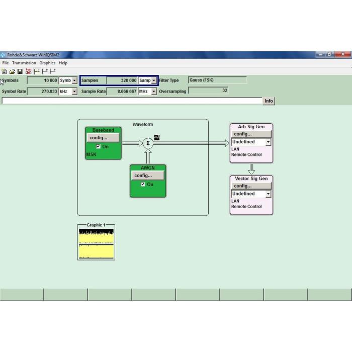 Имитационное программное обеспечение Rohde & Schwarz WinIQSIM2